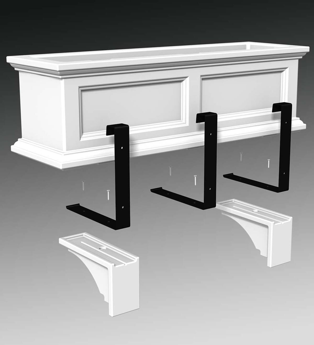 Lexington Window Box Corbels, Set of 2