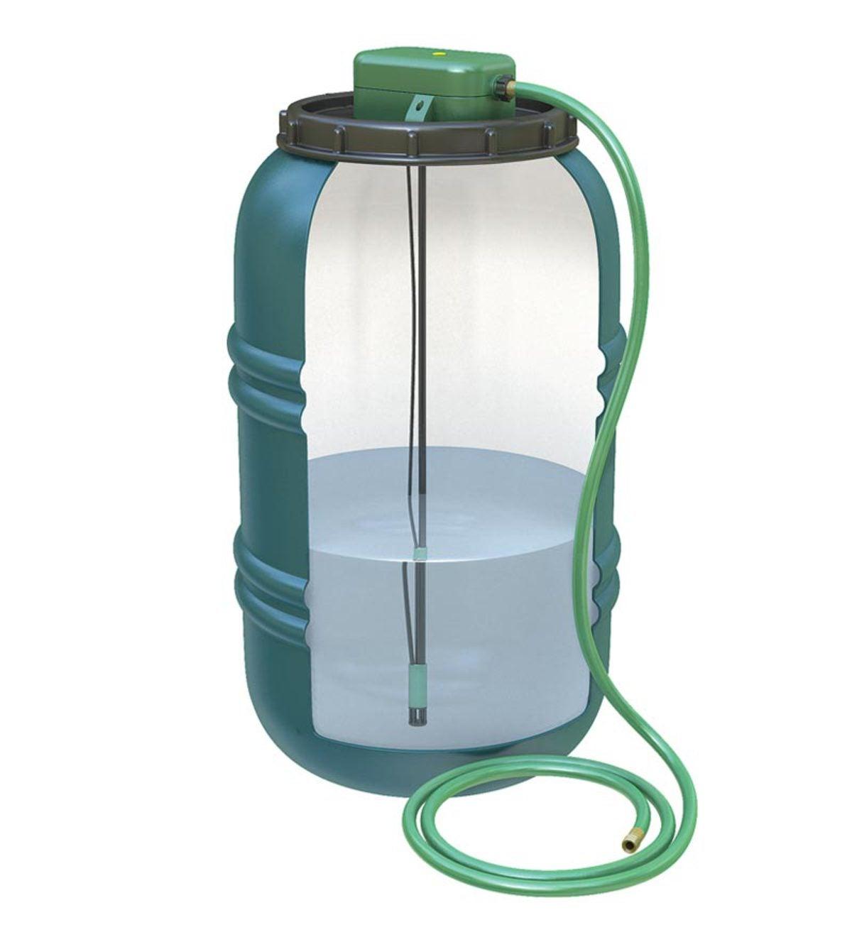 Solar Powered Rain Barrel Water Pump | PlowHearth