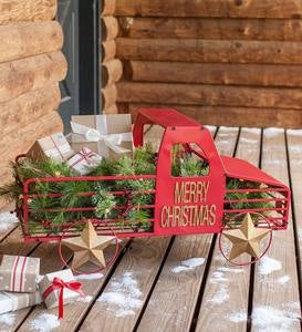 Merry Christmas Pointsetta Mason Jar Magnet