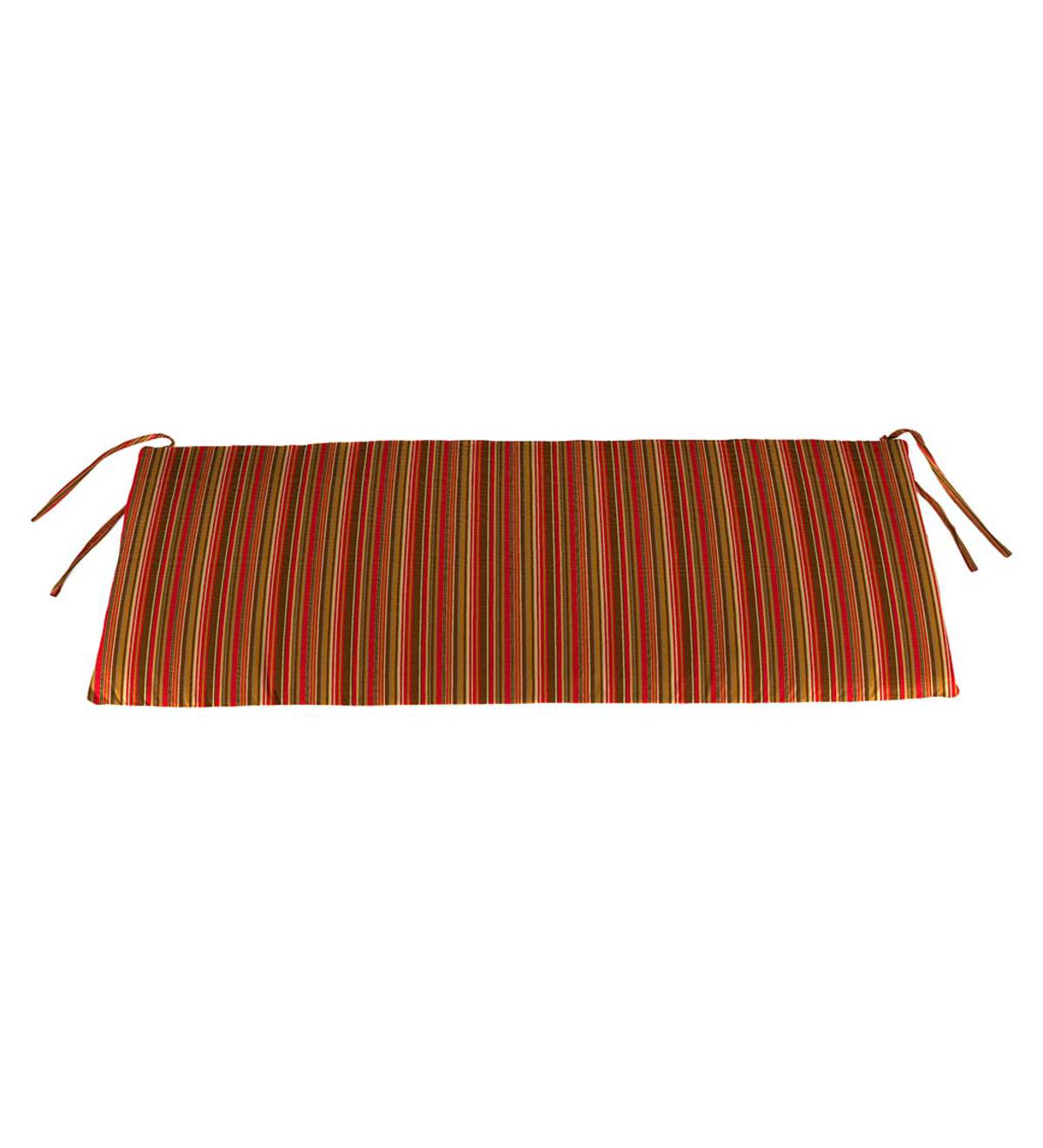 "Sunbrella Classic Swing/Bench Cushion, 41"" x 17"" x 3"" - Cherry Stripe"