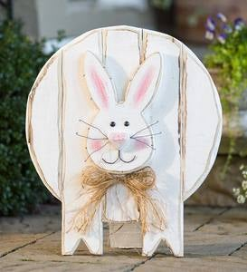 Wooden Bunny Standing/Hanging Accent
