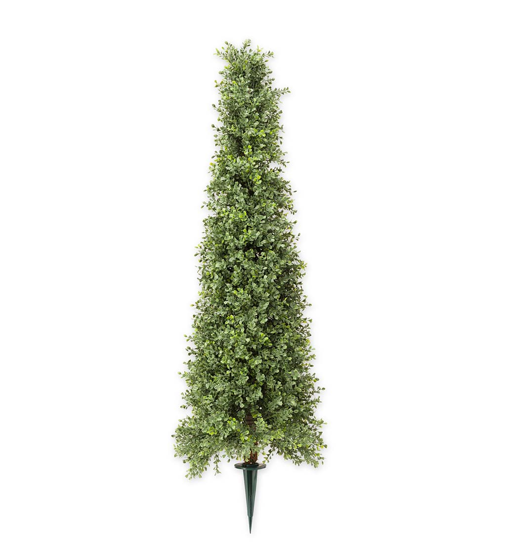Faux Boxwood Topiary Cone, 36""