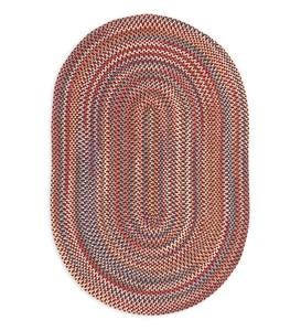 Blue Ridge Wool Oval Braided Rug, 8' x 11'