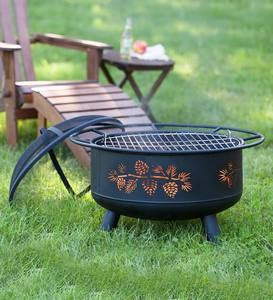 Pine Cone Wood Burning Fire Pit