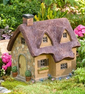Resin Thatched Fairy Cottage