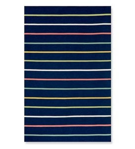 8' square Sorrento Candy Stripe Indoor/Outdoor Rug - Neutral