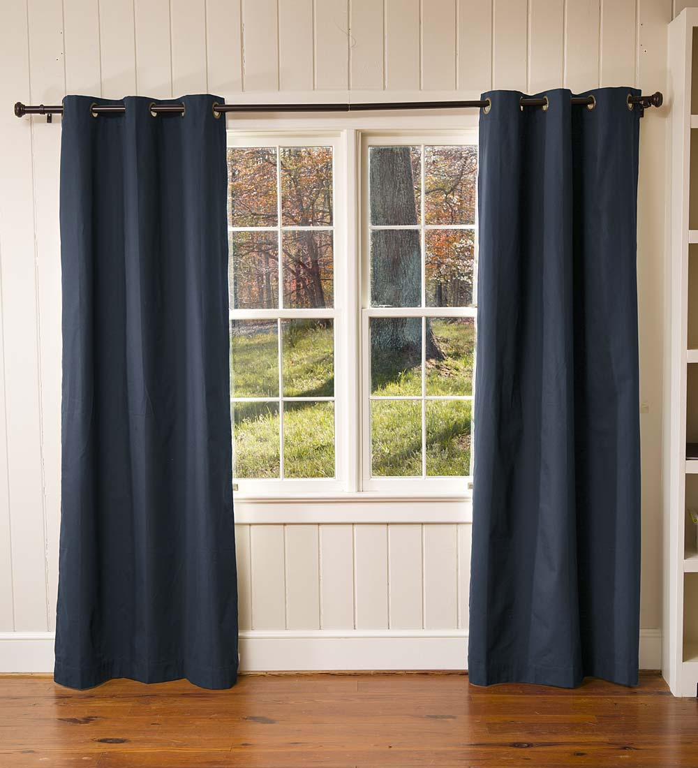 "72""L Thermalogic Energy Efficient Insulated Solid Grommet-Top Curtain Pair"