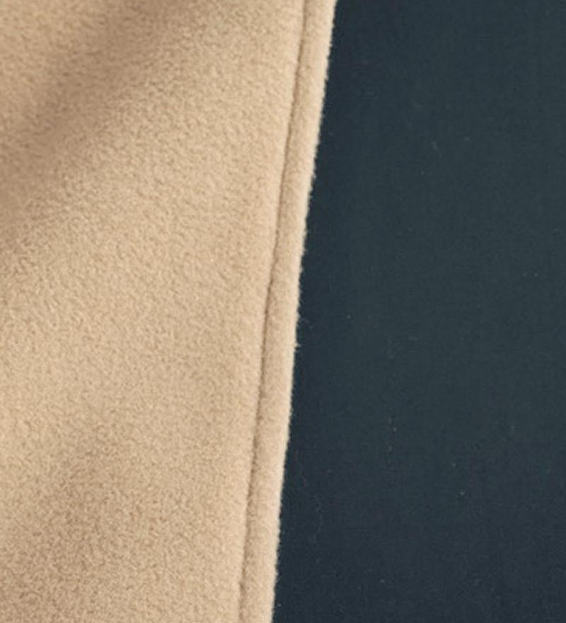 Water-Repellent Reversible Fleece And Nylon Microfiber Cape With Hood swatch image