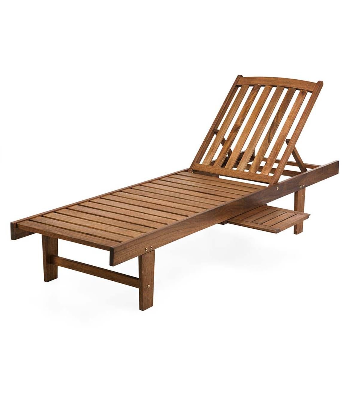 Eucalyptus Wood Chaise Lounge Lancaster Outdoor Furniture