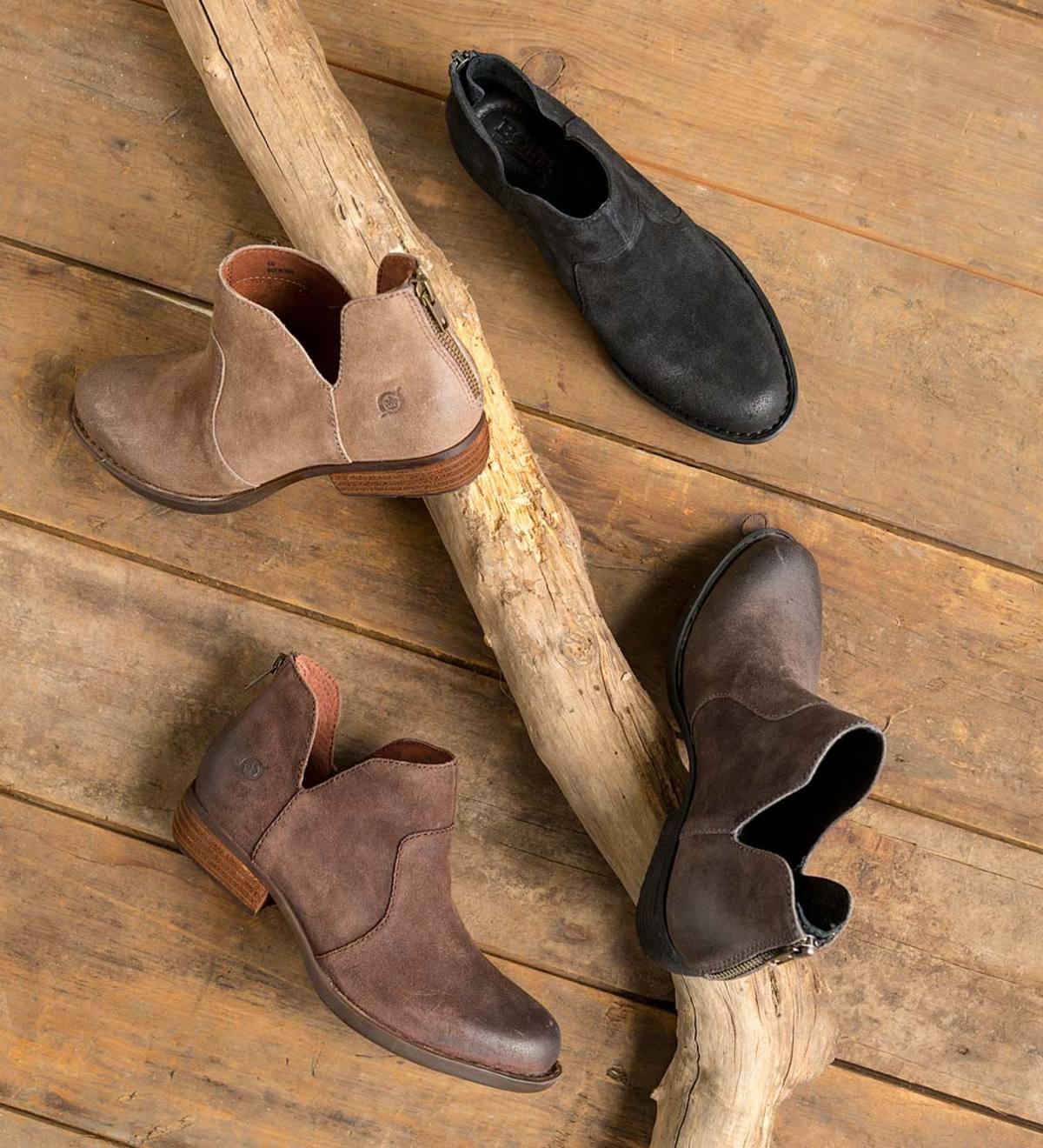 Born Kerri Ankle Boots - Dark Brown