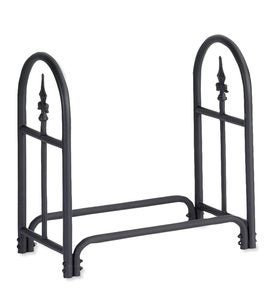 Small Heavy Duty Steel Wood Rack with Finial Design