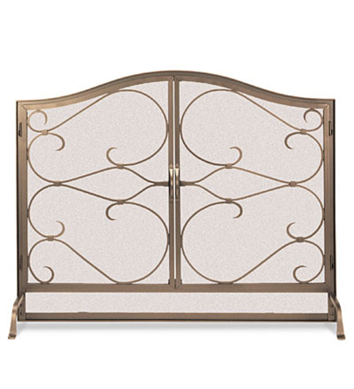 Iron Gate Arched Door Screen