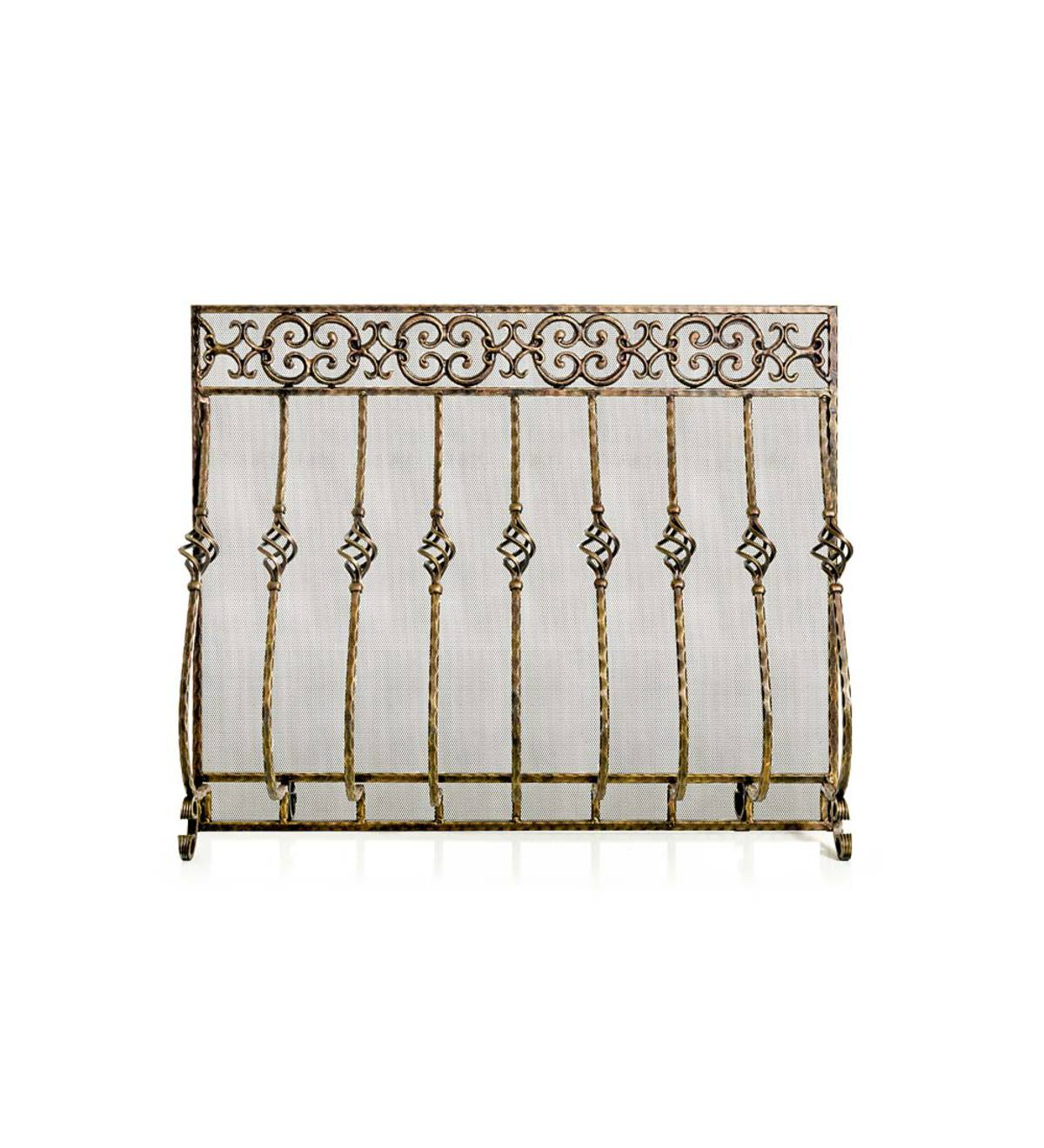 Tuscany Single Panel Fireplace Screen