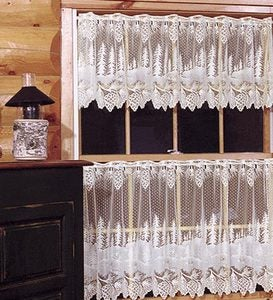 Pinecone Lace Valance And Tiers