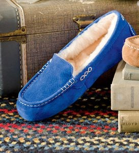 UGG Ansley Moccasin Slippers - Sapphire Blue - Size 10