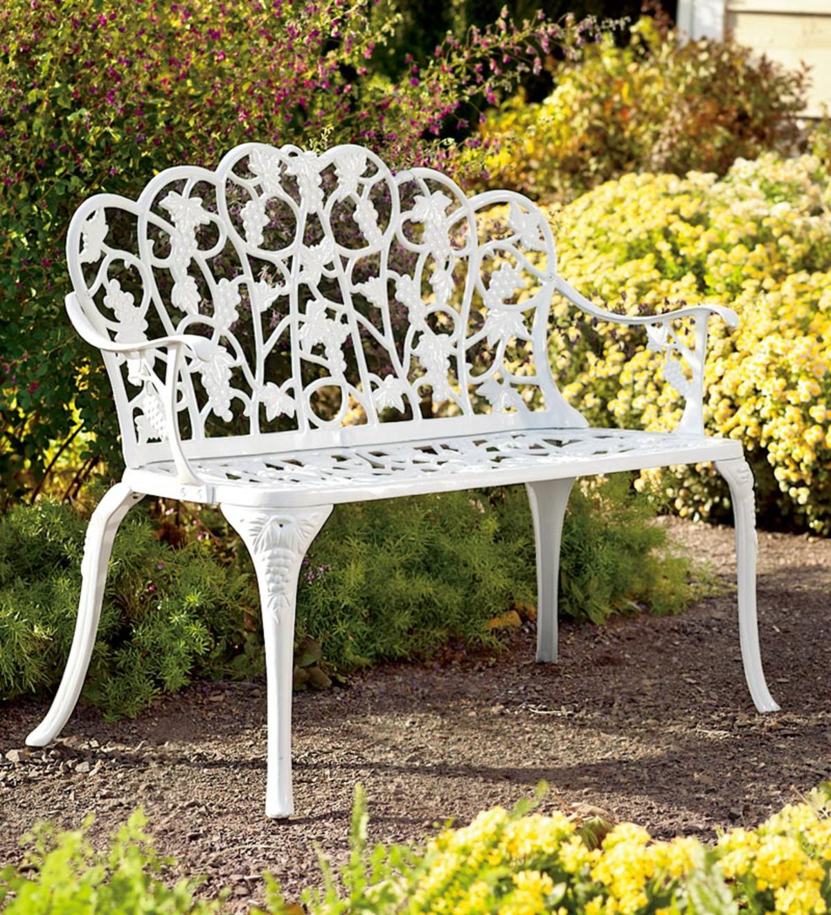 Grapevine Garden Bench in Powder-Coated Aluminum