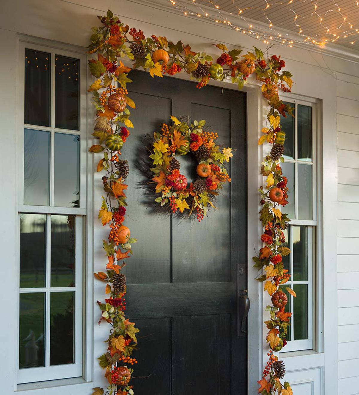 Pumpkins and Pine Cones Fall Garland | Wreaths | Home Accents ...