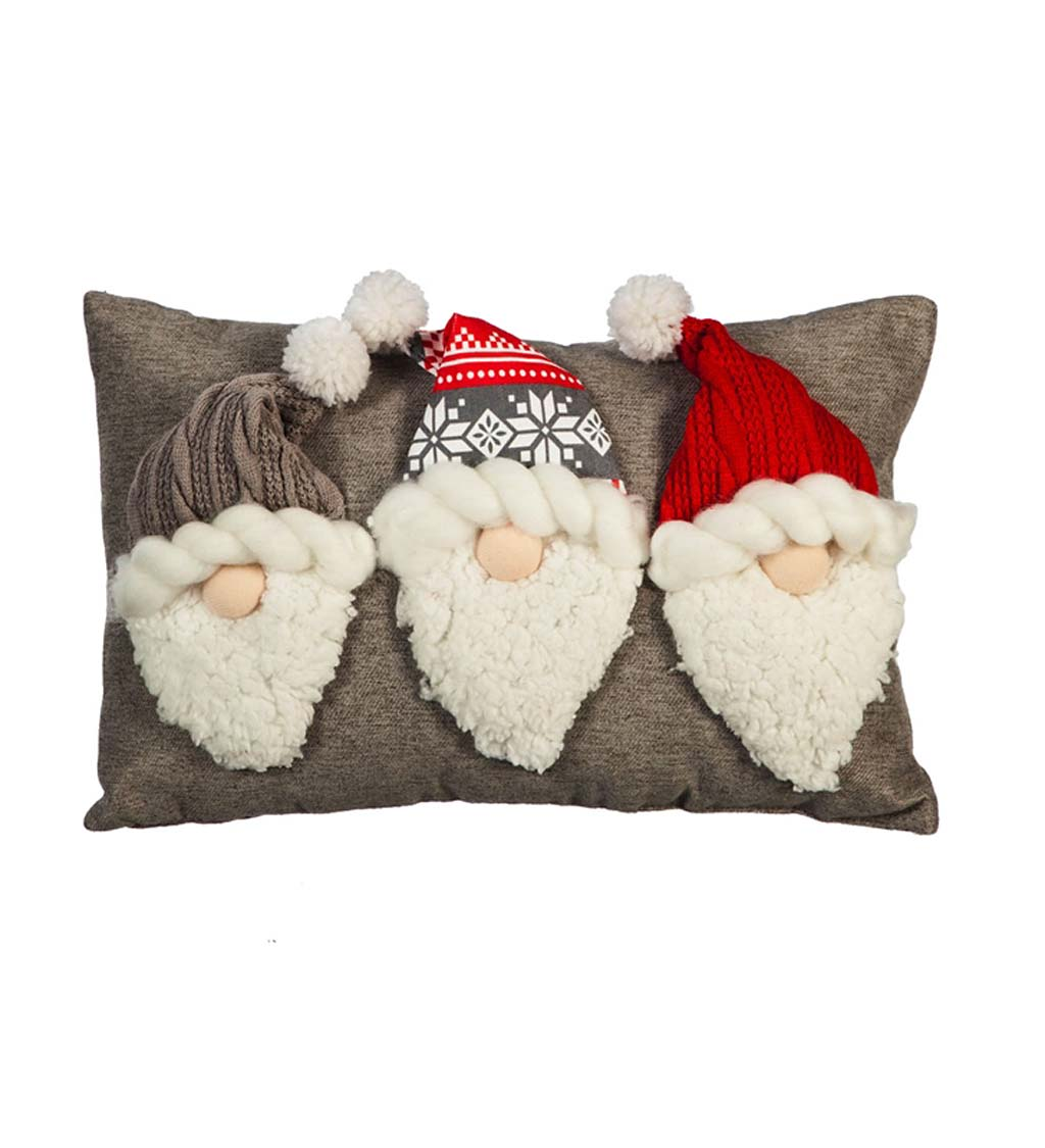 Gnome Gnomes Garden Woodland Throw Pillow Cover w Optional Insert by Roostery