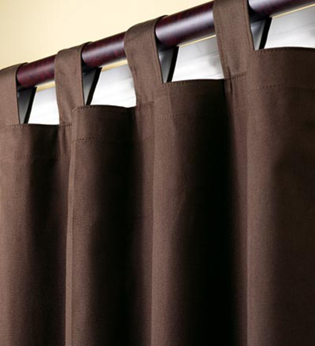 "84""L Thermalogic Energy Efficient Insulated Double Width Solid Tab-Top Curtain Pair - Chocolate"