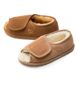 Sheepskin Wrap Slippers With Closed Back