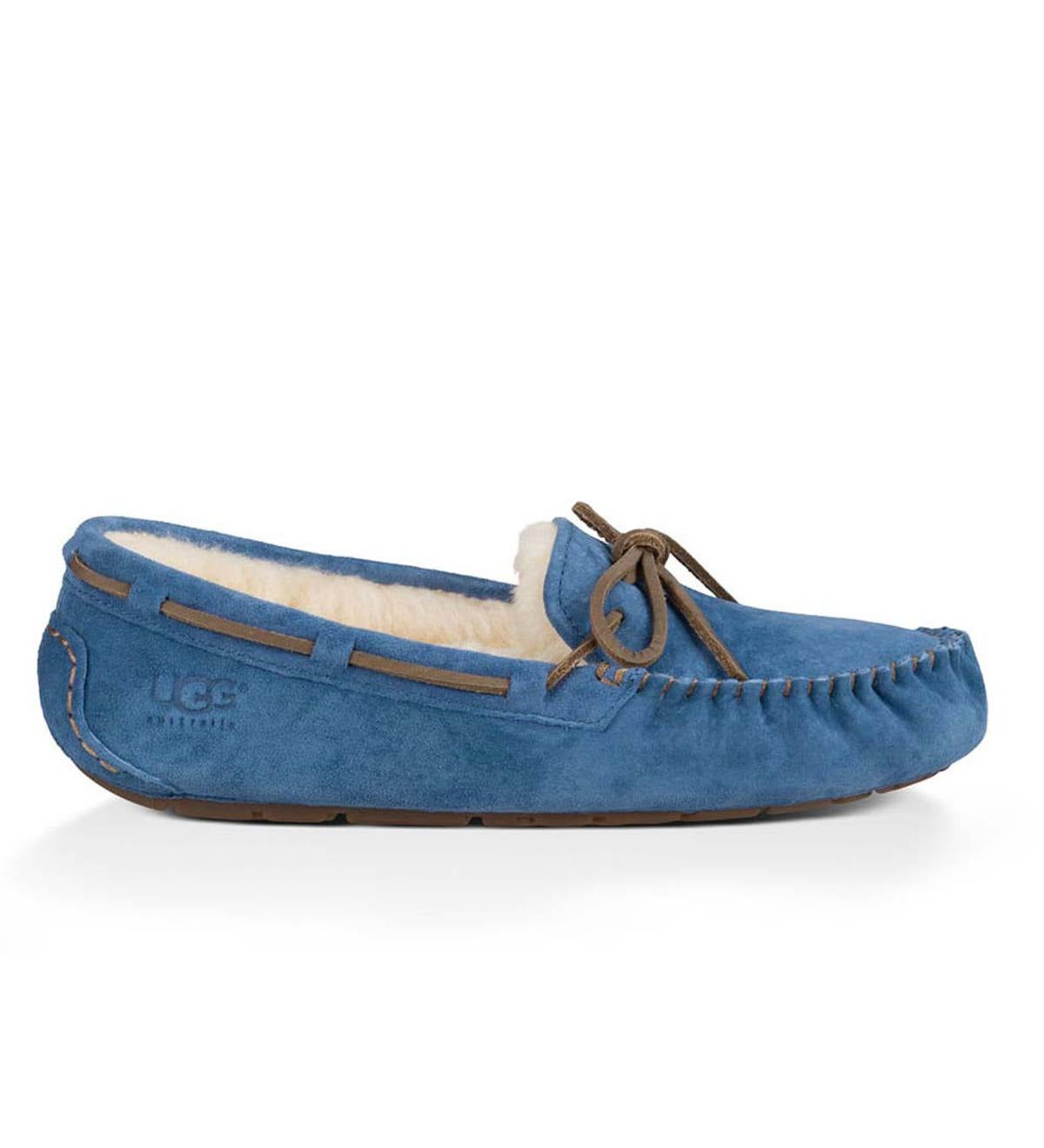 UGG Australia Womens Dakota Moccasin Slippers - Blue Jay - Size 8