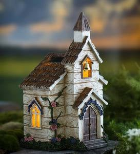 Miniature Fairy Garden Solar Church