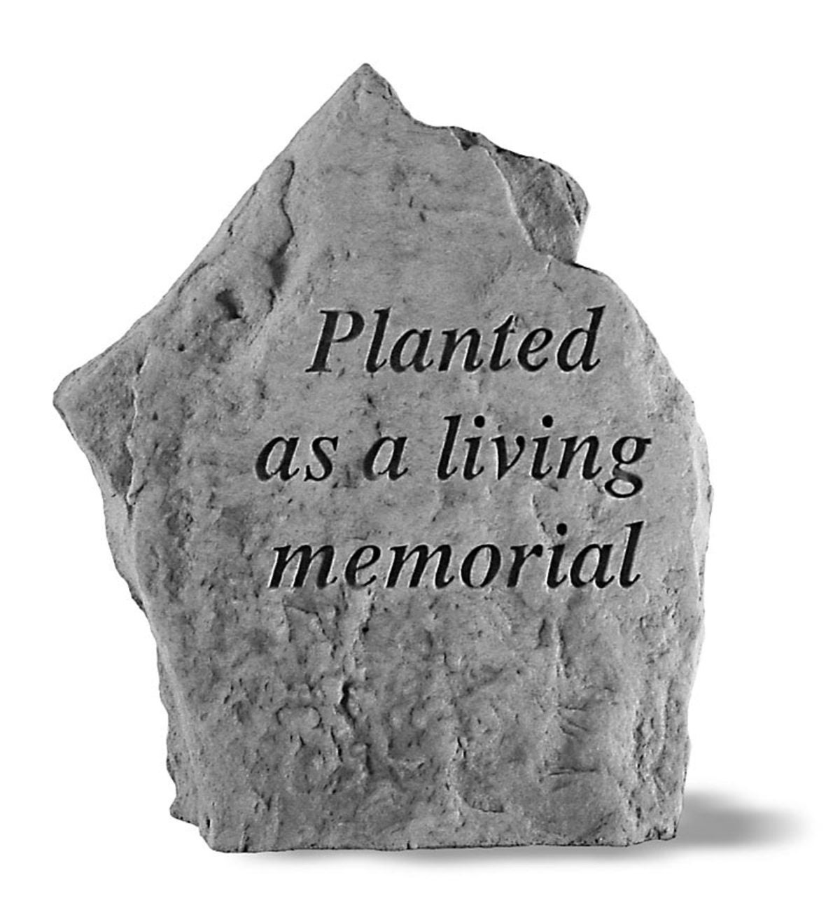 USA-Made Cast Stone Living Memorial Plaque