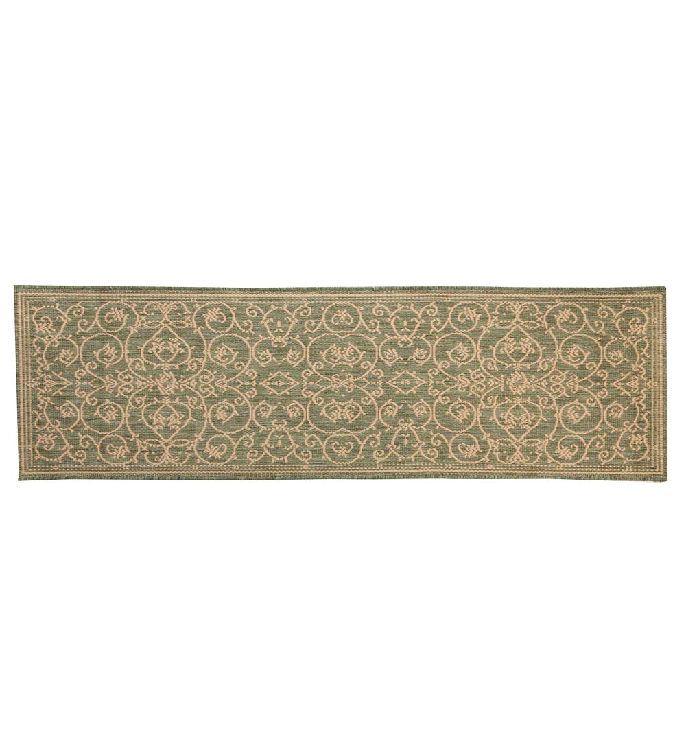 "Veranda Scroll Indoor/Outdoor Runner, 2'3""x 7'10"" swatch image"