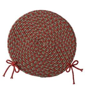"USA-Made Wool Braided Virginia Chair Pad, 15"" dia."