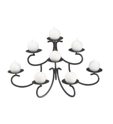 Iron Graceful Curves Fireplace Candelabra Plowhearth