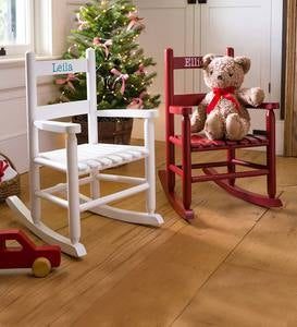 Child's Oak Ladderback Rocker With Free Personalization