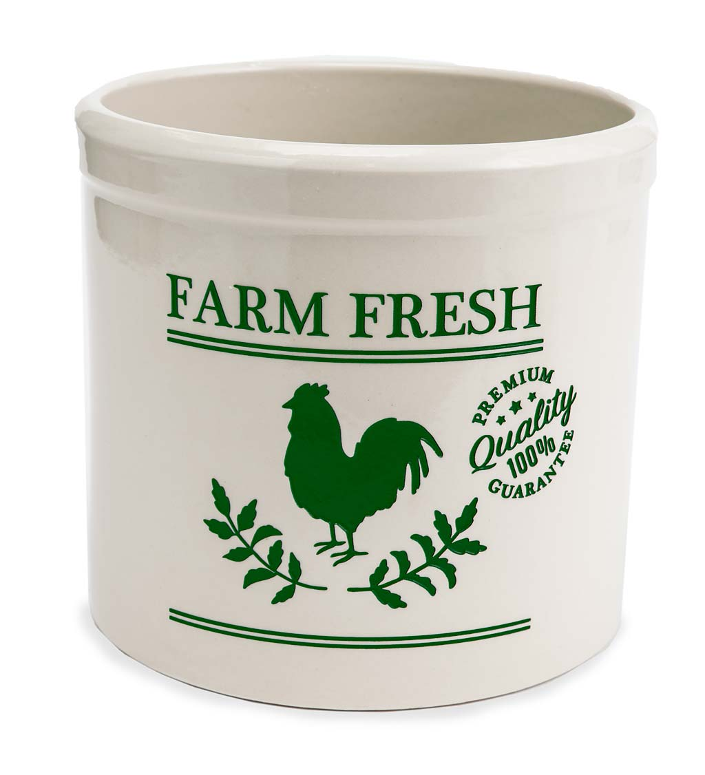 Farm Fresh Rooster Stoneware Crock swatch image