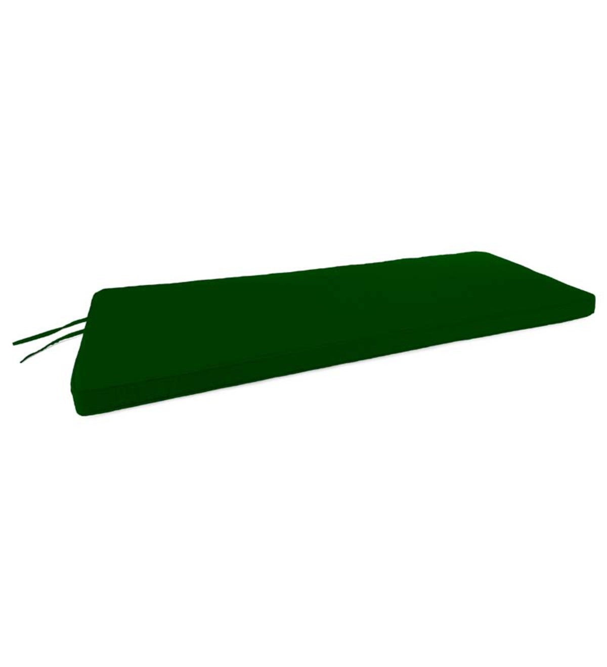 "Polyester Deluxe Swing/Bench Cushion With Ties, 44""x 18""x 2½"" - Forest Green"