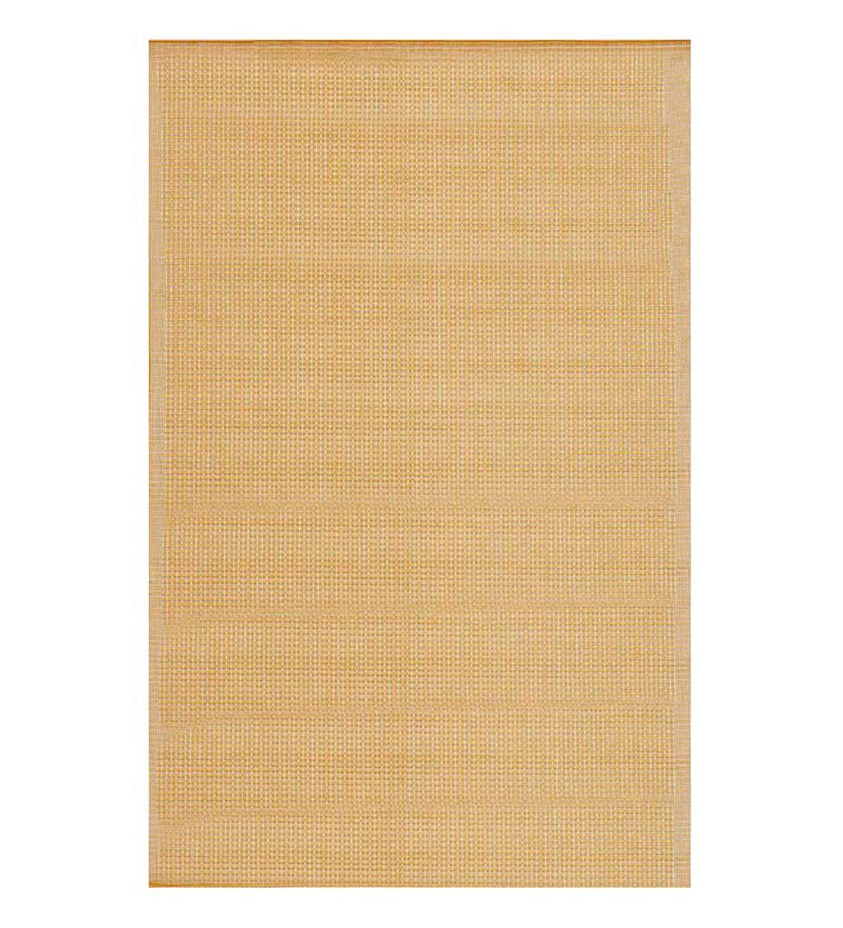 "Solid Color Indoor/Outdoor Polypropylene Rug, 7'10""x 9'10"" - Almond"