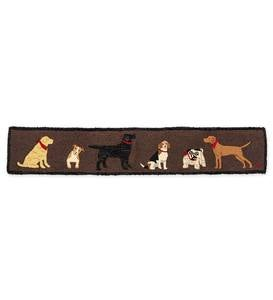 All Dogs Hooked Wool Hearth Runner