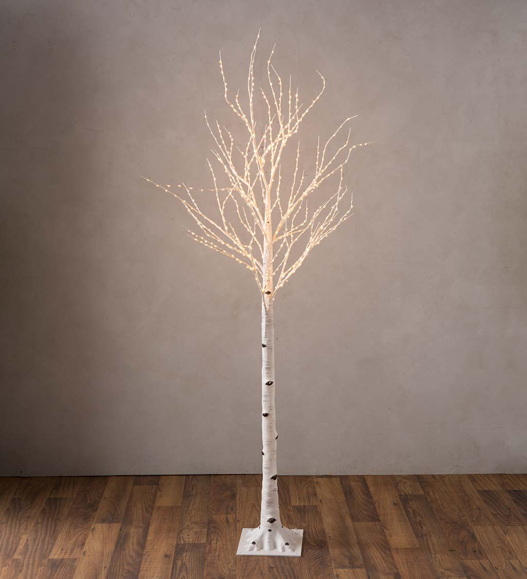 Extra Large Indoor/Outdoor Birch Tree with 750 Warm White Lights swatch image