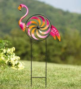 Iridescent Flamingo Wind Spinner