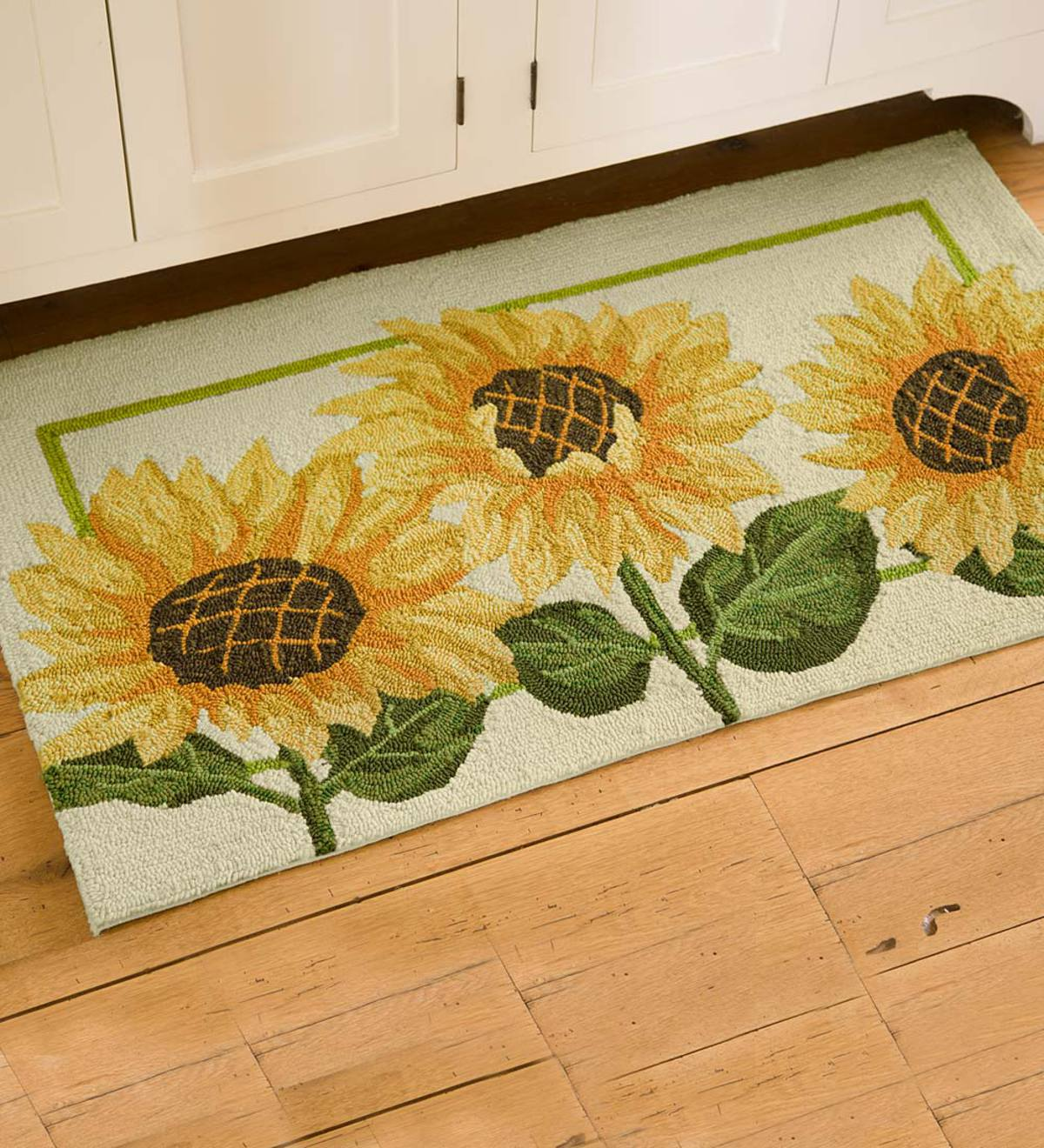 Sunflowers Indoor Outdoor Accent Rug Plowhearth