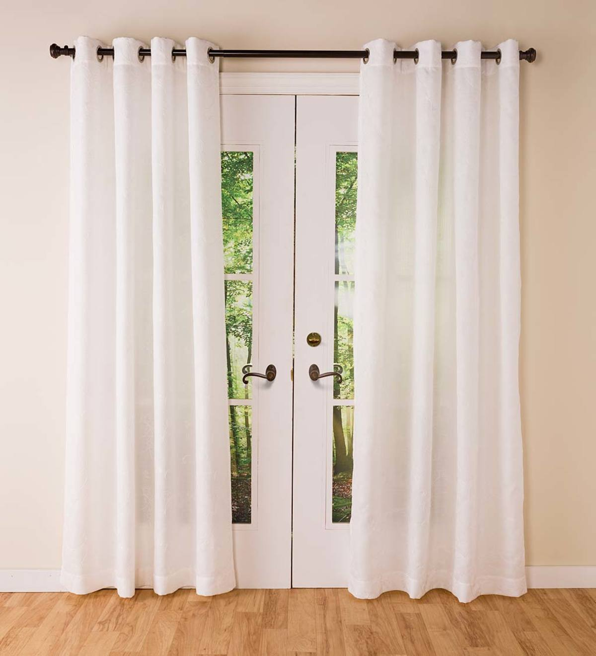 Easy Care Candlewick Grommet Top Curtain Panels
