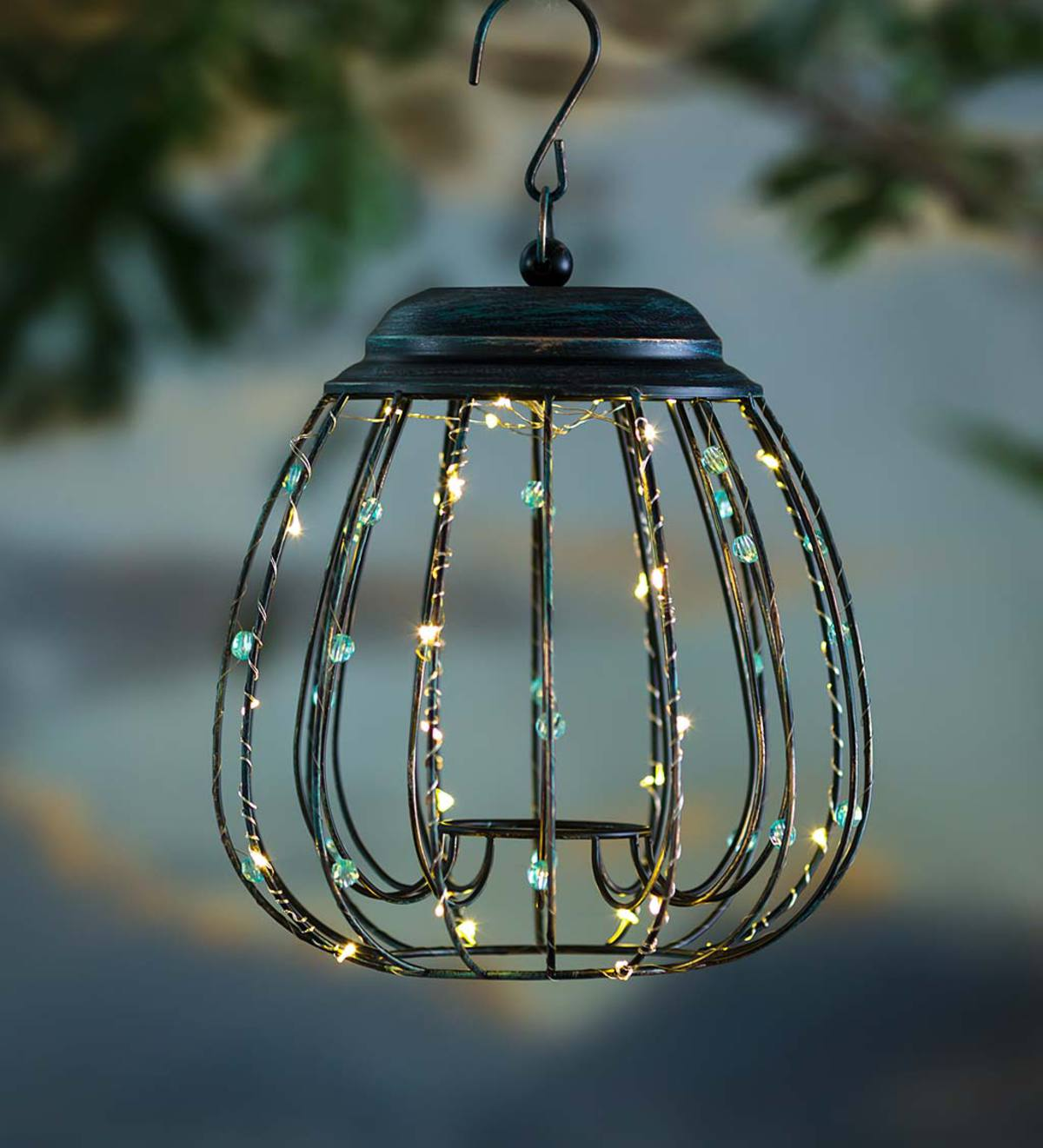 Solar Globe Lantern with Jewels