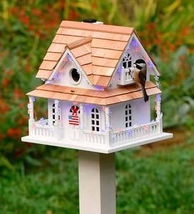 Americana Lighted Birdhouse