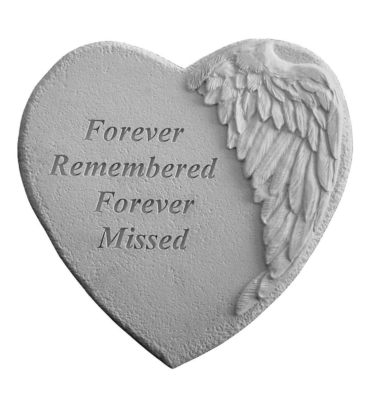 Cast Stone Forever Remembered Garden Stone