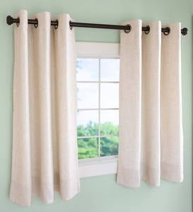 "Insulated Short Curtain Panels, Grommet-Top, 40""W x 45""L - Ivory Solid"