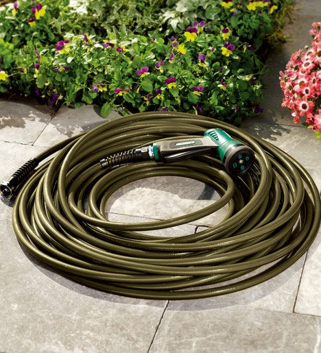 100' USA-Made Ultra Light Kink-Resistant Hose with Solid Brass Fittings