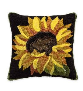 Indoor/Outdoor Sunflower Throw Pillow
