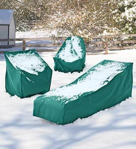 "76""L x 26""W x 35""H Outdoor Furniture All-Weather Cover for Bench - Green"