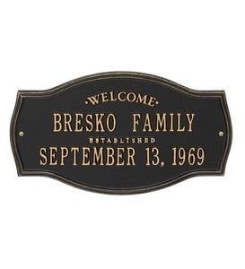 Heirloom Personalized Welcome Wall Plaque - Black