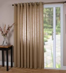 "Sheer Linen Panel with Grommets, 52""W x 63""L - Gray"