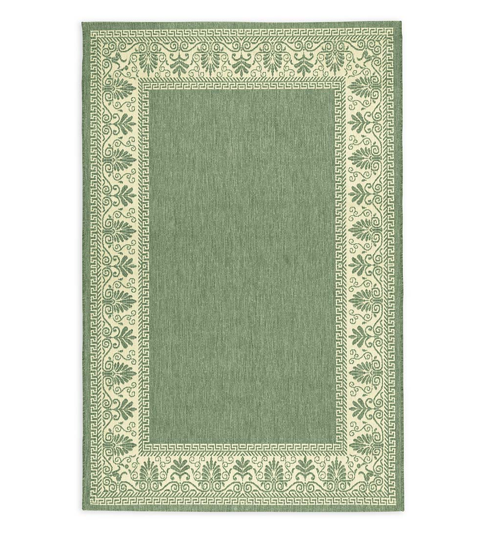 "Veranda Border Indoor/Outdoor Rug, 7'6""x 10'9"""