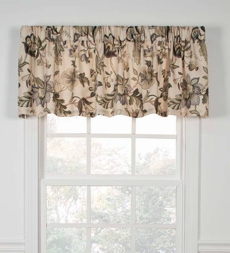Brissac Jacobean Floral Scalloped Window Valance